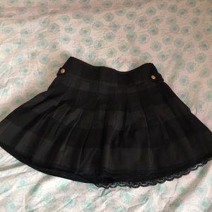 Gray mini school girl skirt